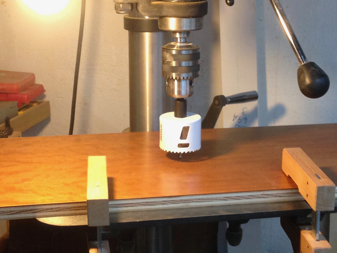 drilling a round cavity